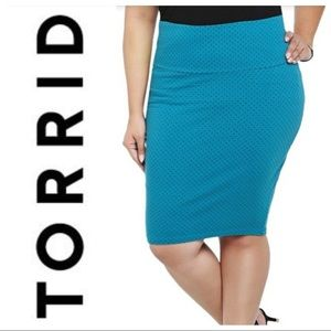 Torrid Polka Dot Fold Over Pencil Skirt NWT
